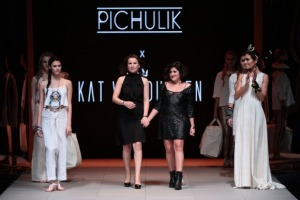 Katherine-Mary Pichulik Pichulik Designer and Kat Van Duinen collaborate at this year's Cape Town Fashion Week.