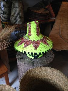 Design Afrika loves to collaborate. This piece was made from recycled strips of materials with designer Helen Melon.