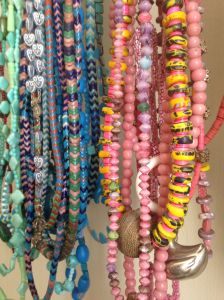 Wearability, beauty and tradition are key components of Shirley's necklaces.