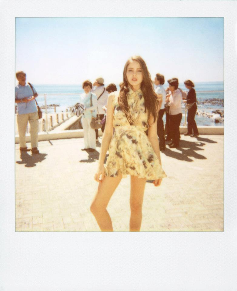 Girl on a Journey. Polaroid Shoot 2012. Photographed by Ulrich Knoblauch.