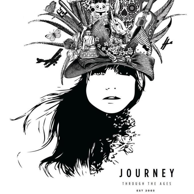 Journey's 10th year anniversary logo