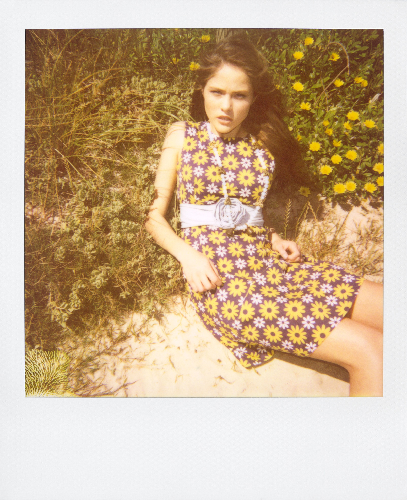 Flower Power. Polaroid Shoot. Photographed by Ulrich Knoeblach.