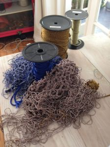 Involved in even the making of the material, Lulu works with rope suppliers to custom design her own rope.